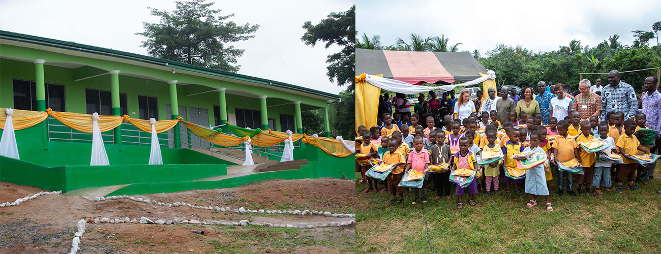 GREL donates 3 classrooms to the children of the village of Eguafo-Breman