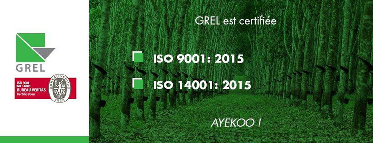 GREL certified ISO 9001 and 14001 version 2015