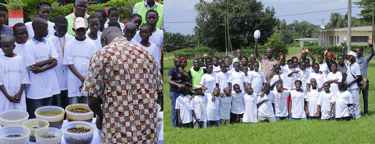 SIFCA Foundation: TBO's athletes visit the estate of Toumanguie